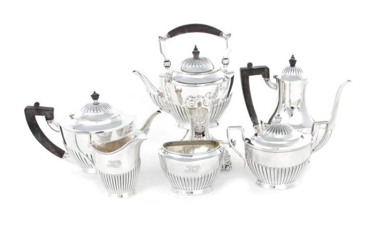 Tiffany & Co silverplate six-piece tea and coffee service (6pcs)