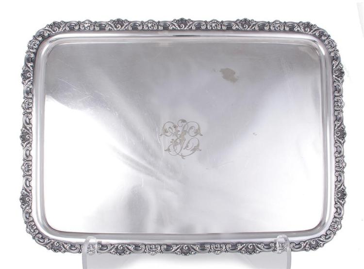Tiffany & Co silver-soldered serving tray