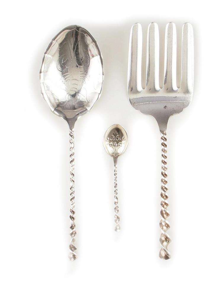 Duhme & Co sterling serving pieces and spoons