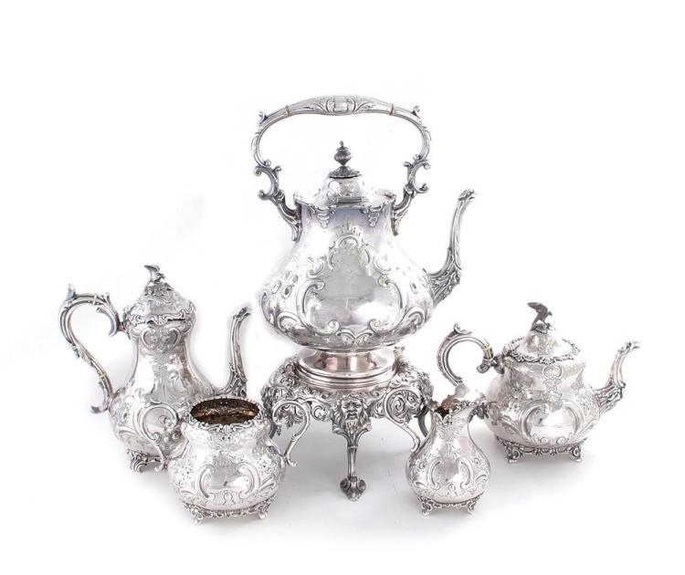 Benetfink & Co silverplate tea and coffee service (5pcs)
