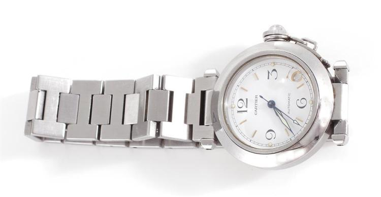 Cartier Pasha stainless wristwatch