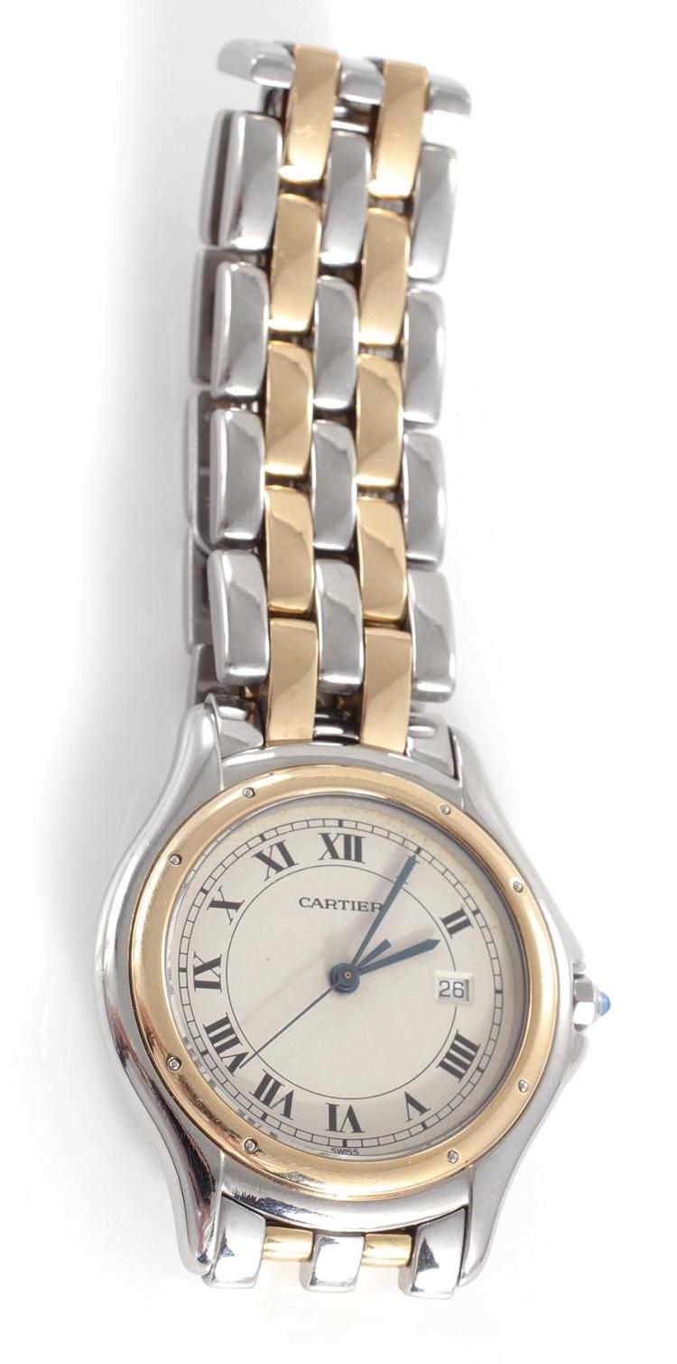 Cartier Santos Ronde stainless wristwatch