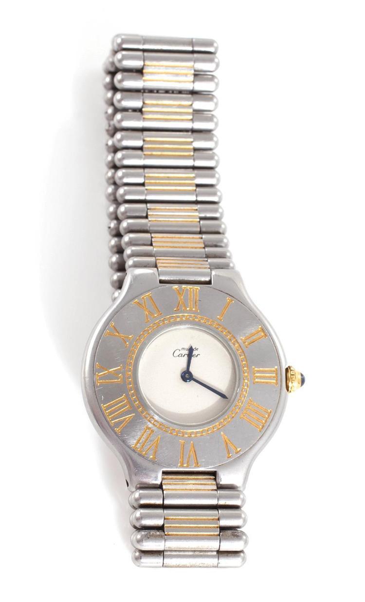 Cartier Must de 21 vermeil stainless wristwatch