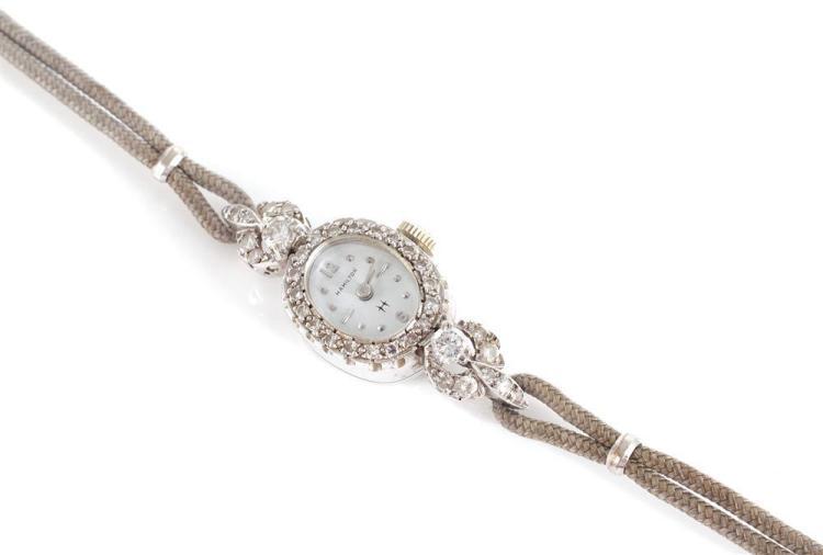Hamilton gold and diamond lady's wristwatch