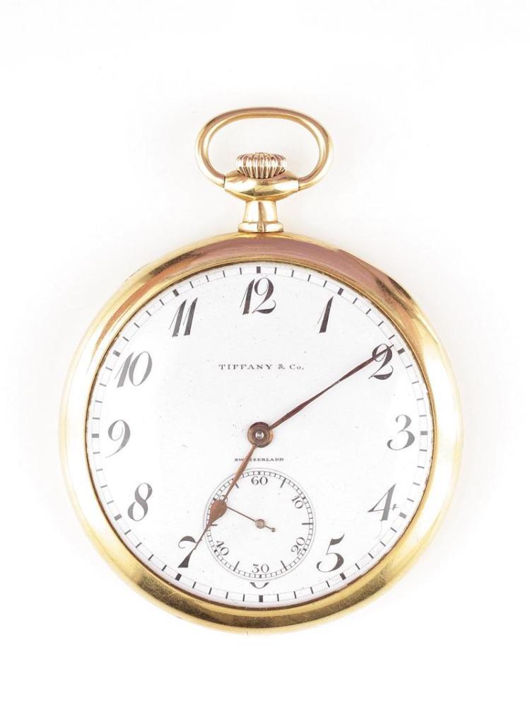Edward Koehn gold open-face pocket watch, for Tiffany & Co