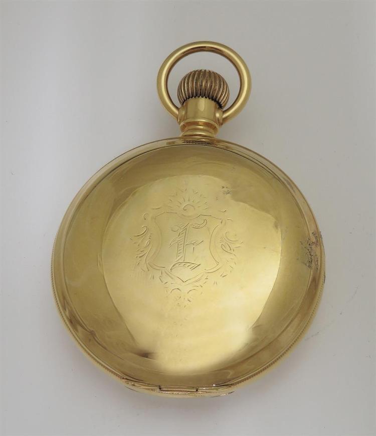 Elgin gold hunter-case pocket watch