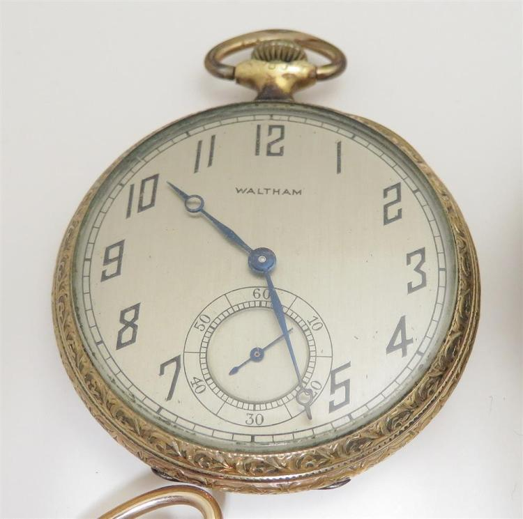 American open-face pocket watches (4pcs)
