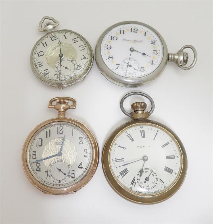 Antique open-face pocket watches (4pcs)