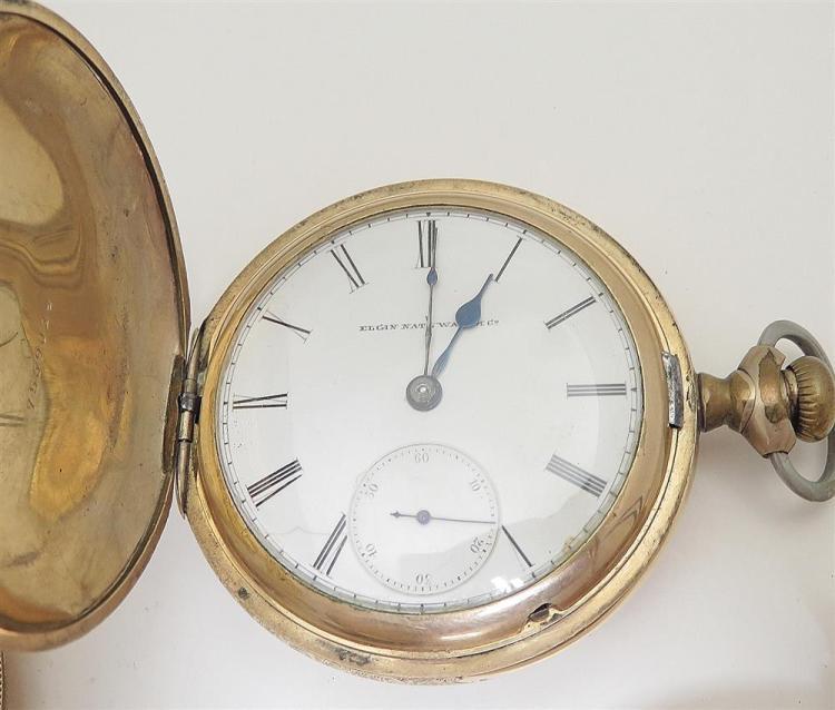 Antique Elgin hunter-case pocket watches (4pcs)