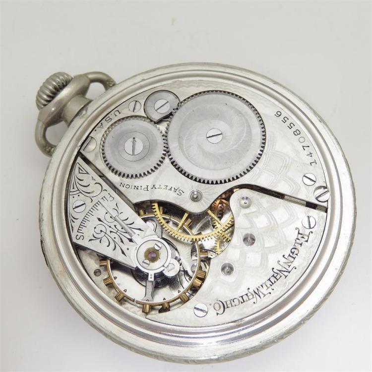 Vintage and antique Elgin open-face pocket watches (8pcs)