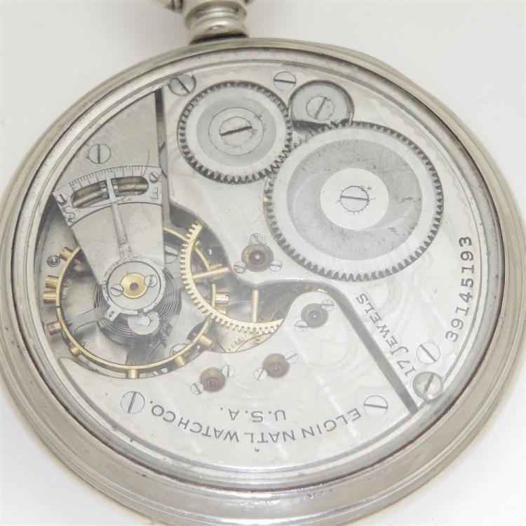 Antique Elgin open-face pocket watches (7pcs)