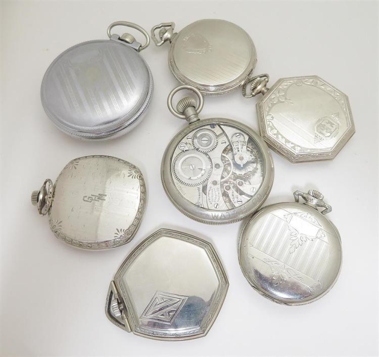 Antique and vintage Illinois open-face pocket watches (7pcs)