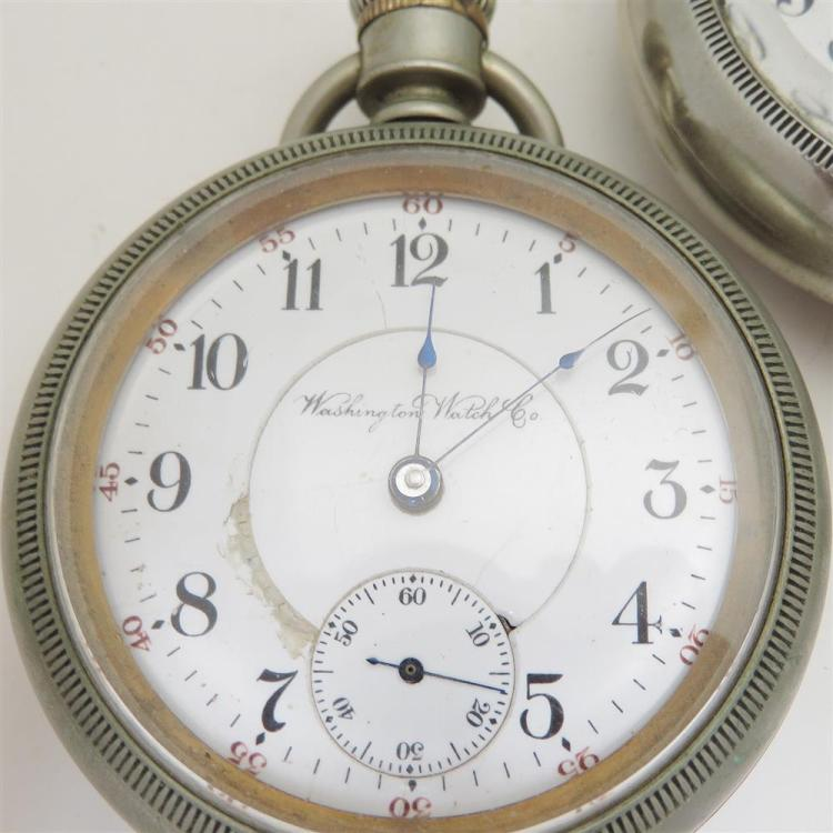 Antique American open-face pocket watches (3pcs)