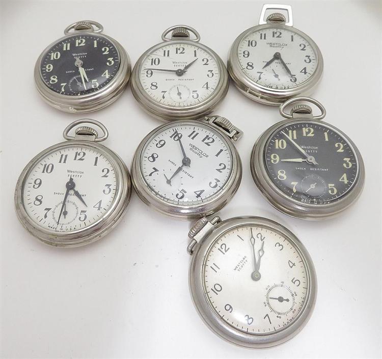 Vintage Westclox open-face pocket watches (19pcs)