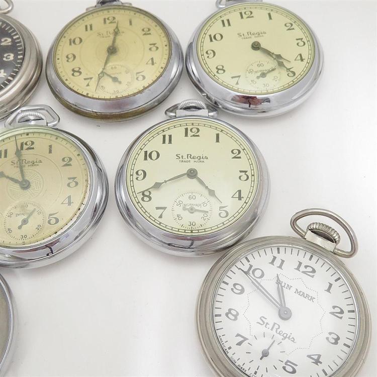 Vintage St. Regis open-face pocket watches (7pcs)