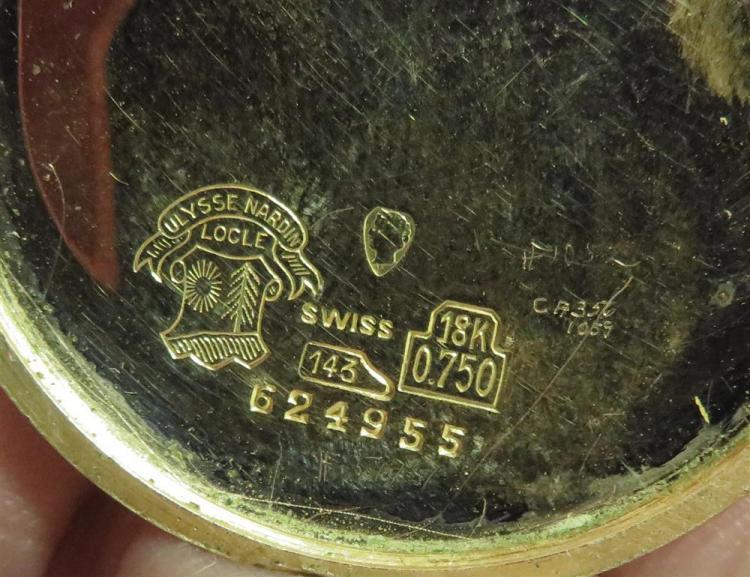 Vintage Ulysse Nardin gold chronometer