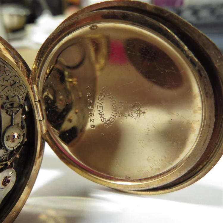 Waltham gold pocket watch