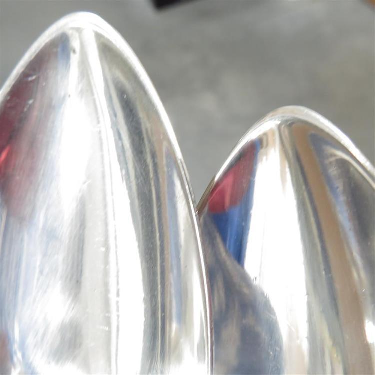 Pair Georgian sterling serving spoons by Bateman (2pcs)