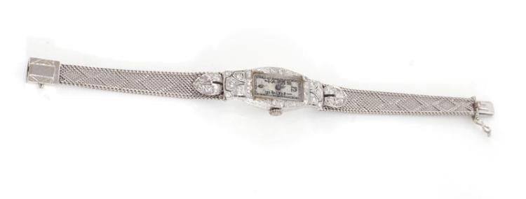 Art Deco diamond and gold wristwatch, Concord