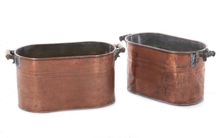 American copper wash boilers (2pcs)
