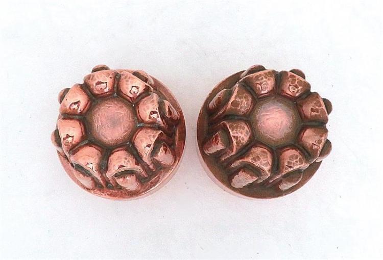 Rare pair tin-lined copper moulds (2pcs)