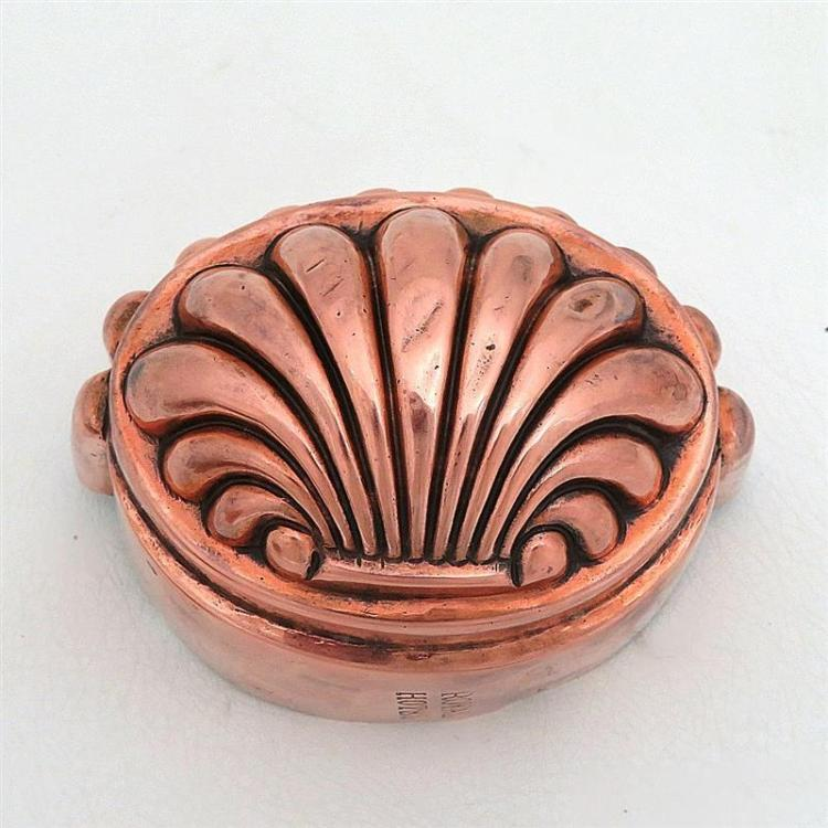Royal Hotel tin-lined copper shell mould