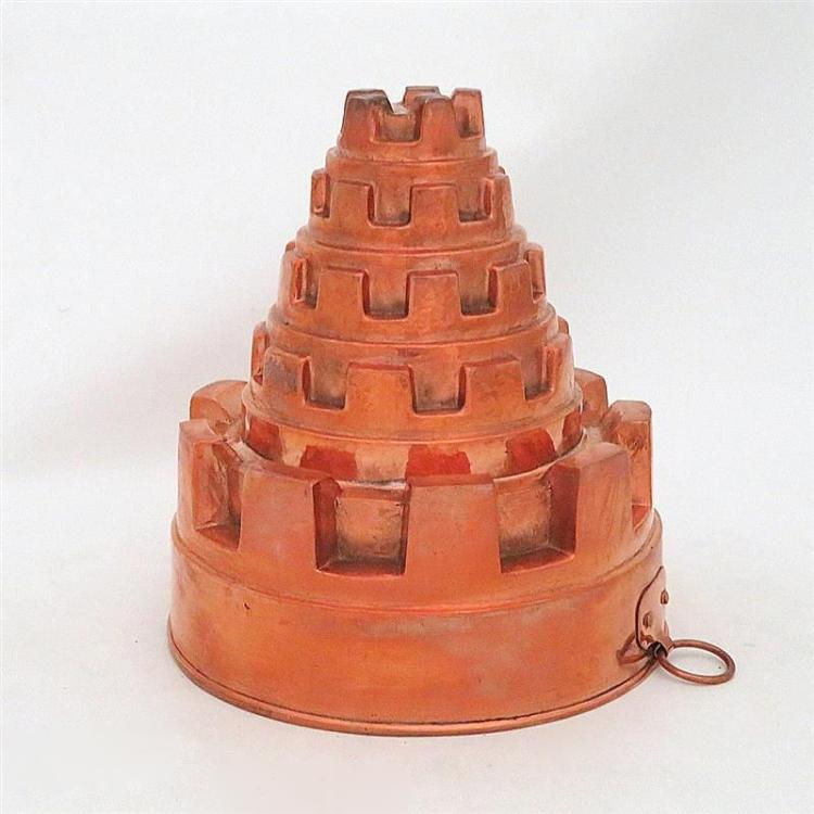 Continental copper castle-turret mould
