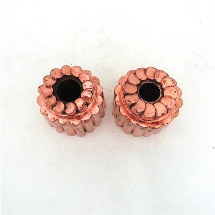Pair Benham & Froud copper 'Penny Top' moulds (2pcs)