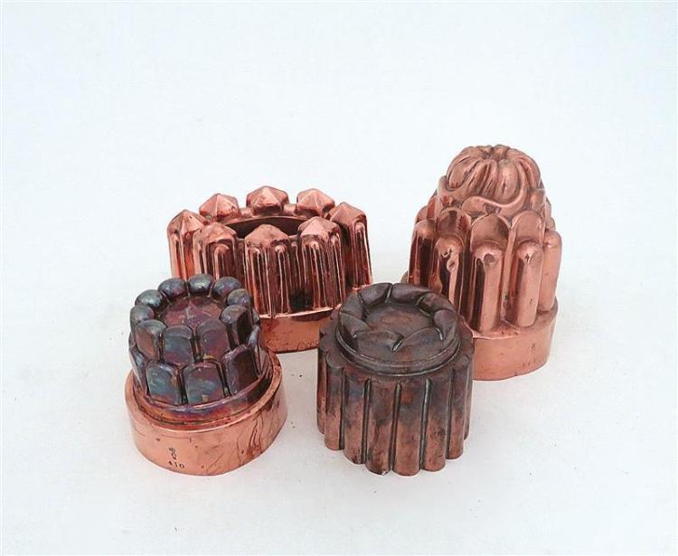 Benham & Froud copper moulds (4pcs)