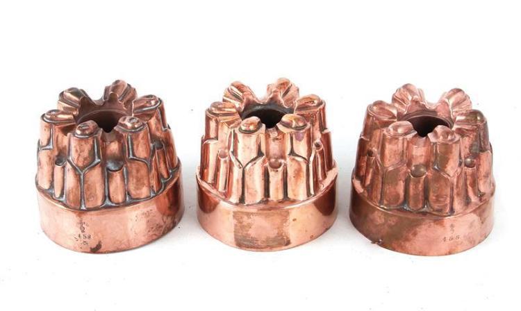 Benham & Froud copper moulds (3pcs)