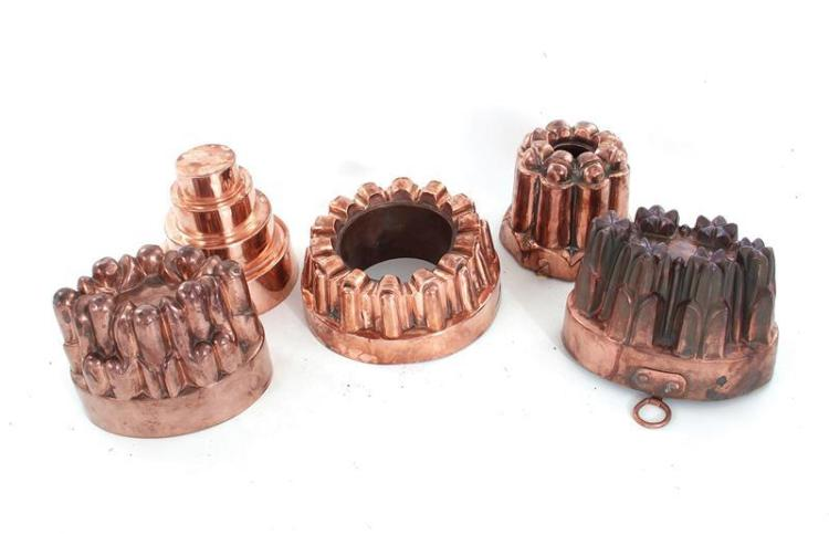 Benham & Froud copper moulds (5pcs)