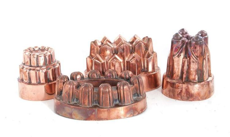 Benham & Froud copper moulds (4pcs)