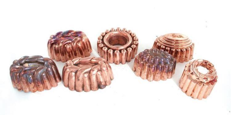 Benham & Froud copper moulds (7pcs)