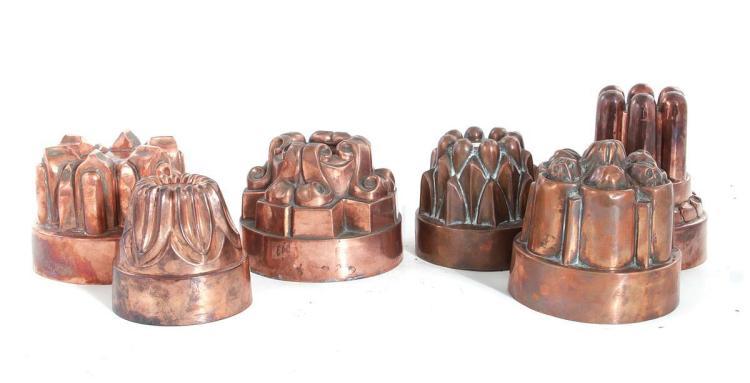Benham & Froud copper moulds (6pcs)