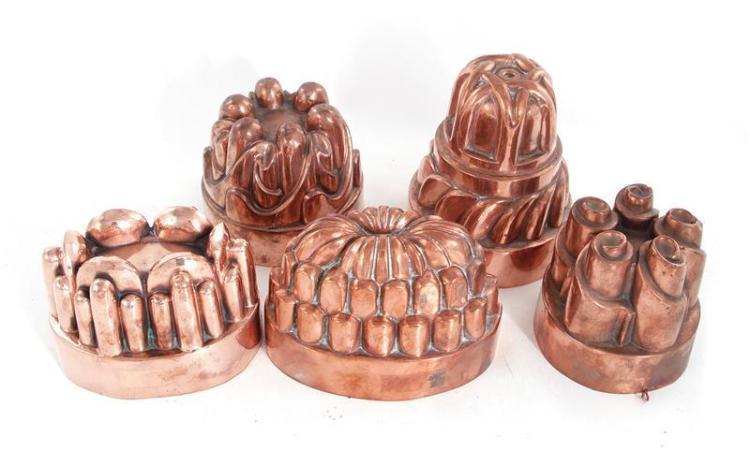 Benham & Froud copper moulds (5pcs)
