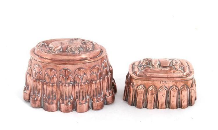 English animal pattern copper moulds (2pcs)