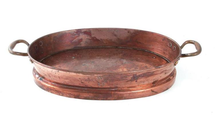 Continental copper culinary roasting pan
