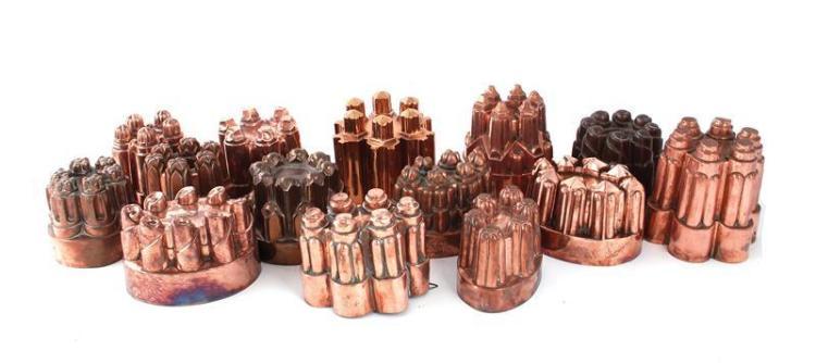 English copper finger moulds (14pcs)