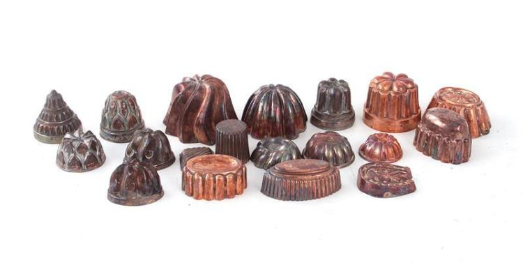 Continental miniature culinary moulds (19pcs)