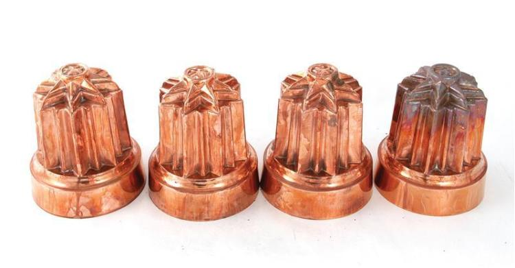 English Brunswick star copper moulds (4pcs)