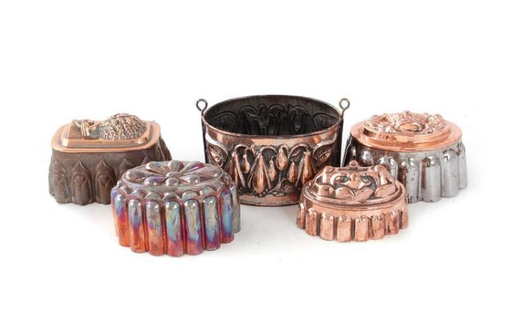 Continental copper moulds (5pcs)