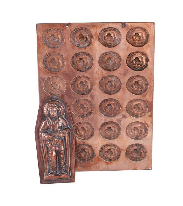 Two candy or butter copper moulds (2pcs)