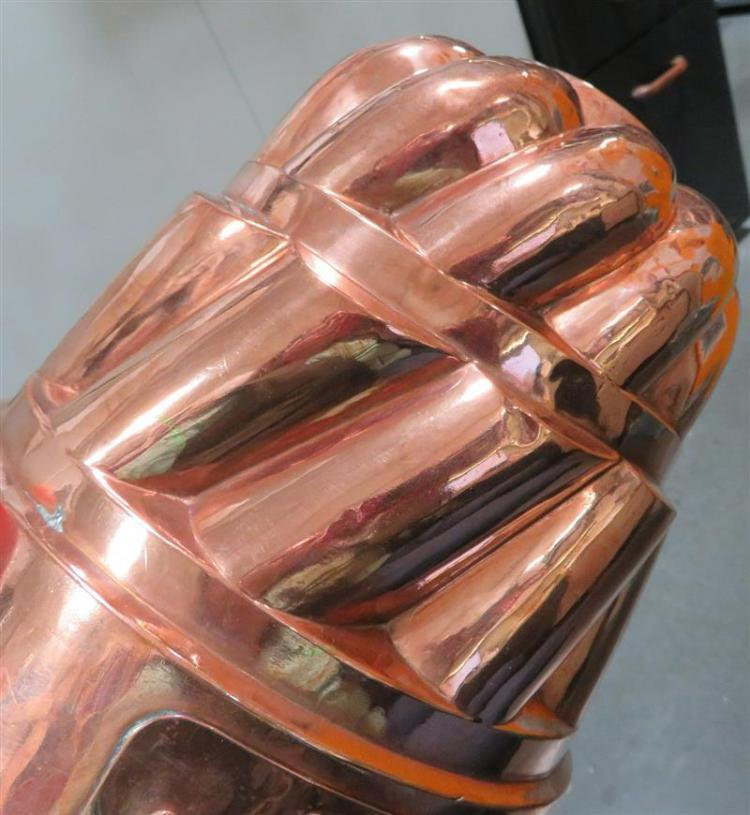 Extra large tin-lined copper mould