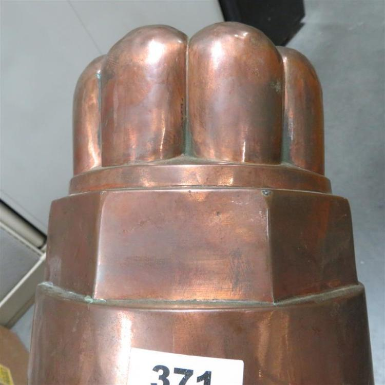 Extra large Victorian tin-lined copper mould