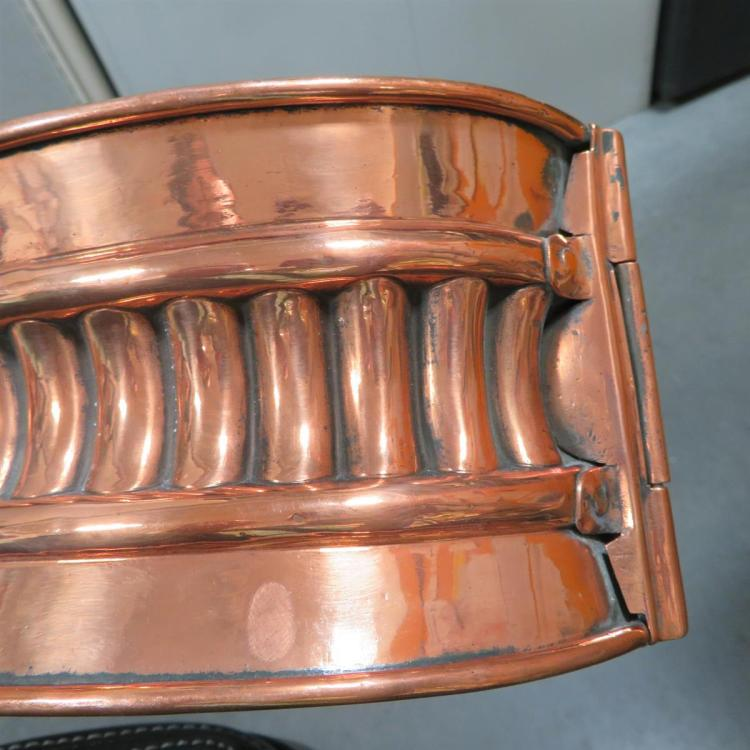 Victorian copper raised game pie mould