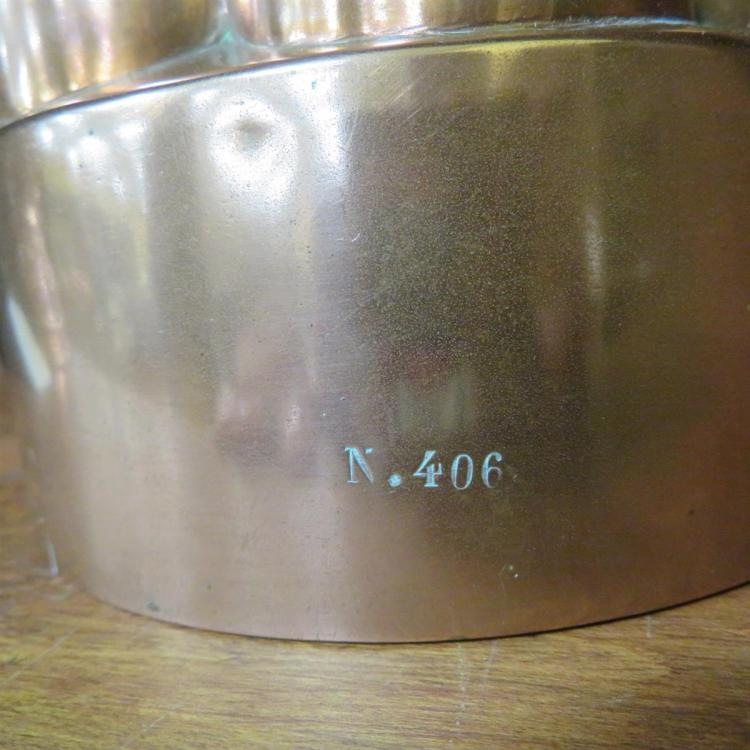 Victorian copper raised game pie and pudding moulds (2pcs)