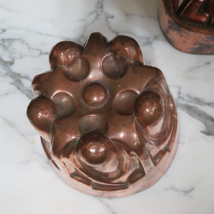 English and European copper culinary moulds (15pcs)