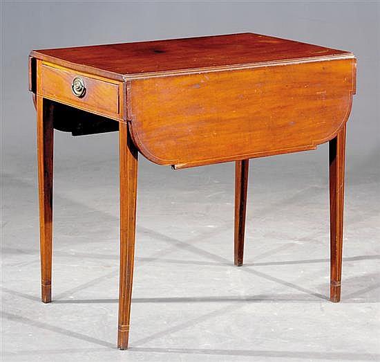 Southern Federal inlaid mahogany Pembroke table