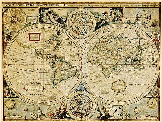 Rare John Speed world map