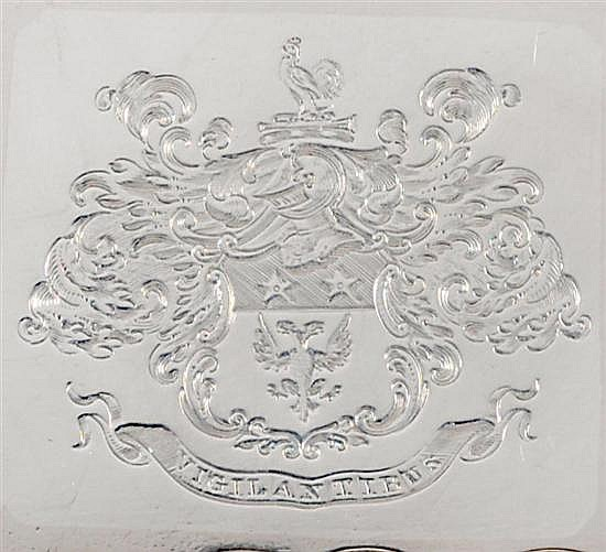Sheffield plate footed serving tray